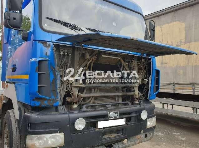 Выездная замена радиатора грузового автомобиля