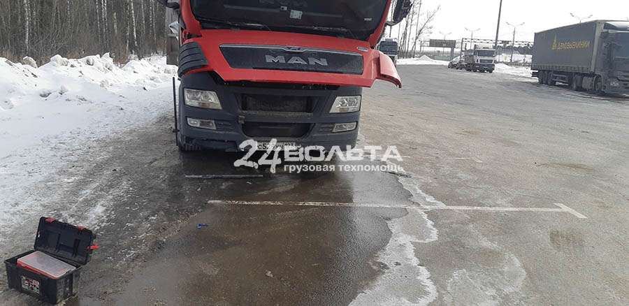 Замена стартера грузовика